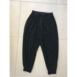Ramy Brook Silk Crop Pockets Jogger Pants
